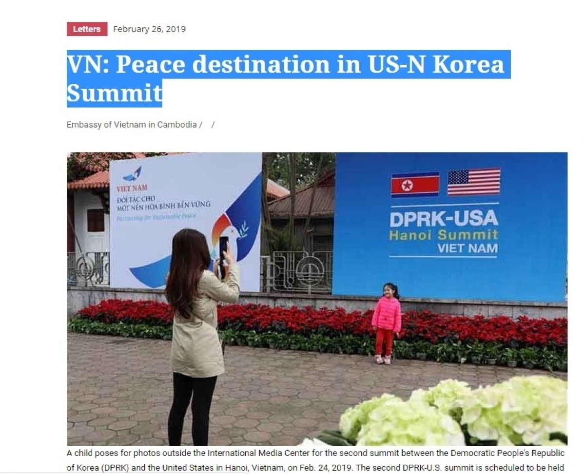 Truyền thông quốc tế đánh giá Việt Nam là điểm đến hòa bình cho Hội nghị Thượng đỉnh Mỹ-Triều.