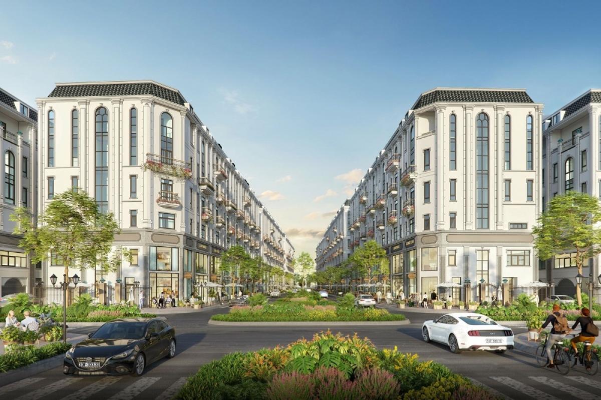 Him Lam Vạn Phúc được thiết kế 6 tầng, 2 mặt tiền, tối ưu hoạt động kinh doanh
