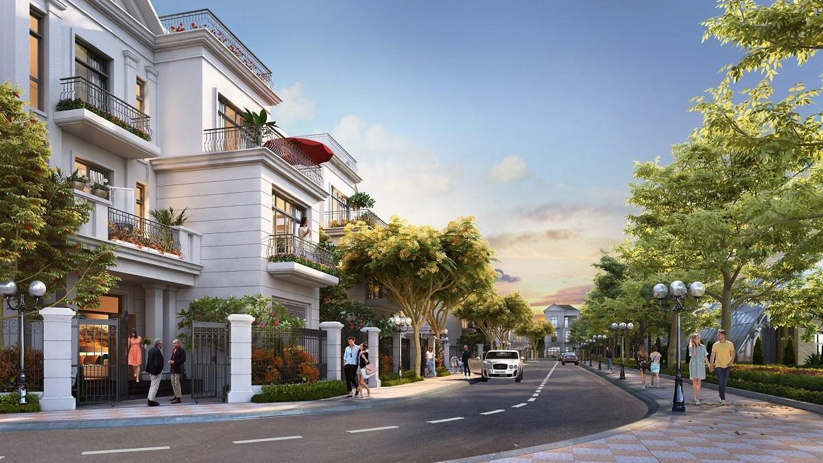 Phân khu Nguyệt Quế mang đặc trưng kiến trúc Địa Trung Hải. Đây là một trong những phân khu đã bàn giao đón cư dân chuyển về an cư sinh sống. (Hình ảnh mang tính chất minh họa)