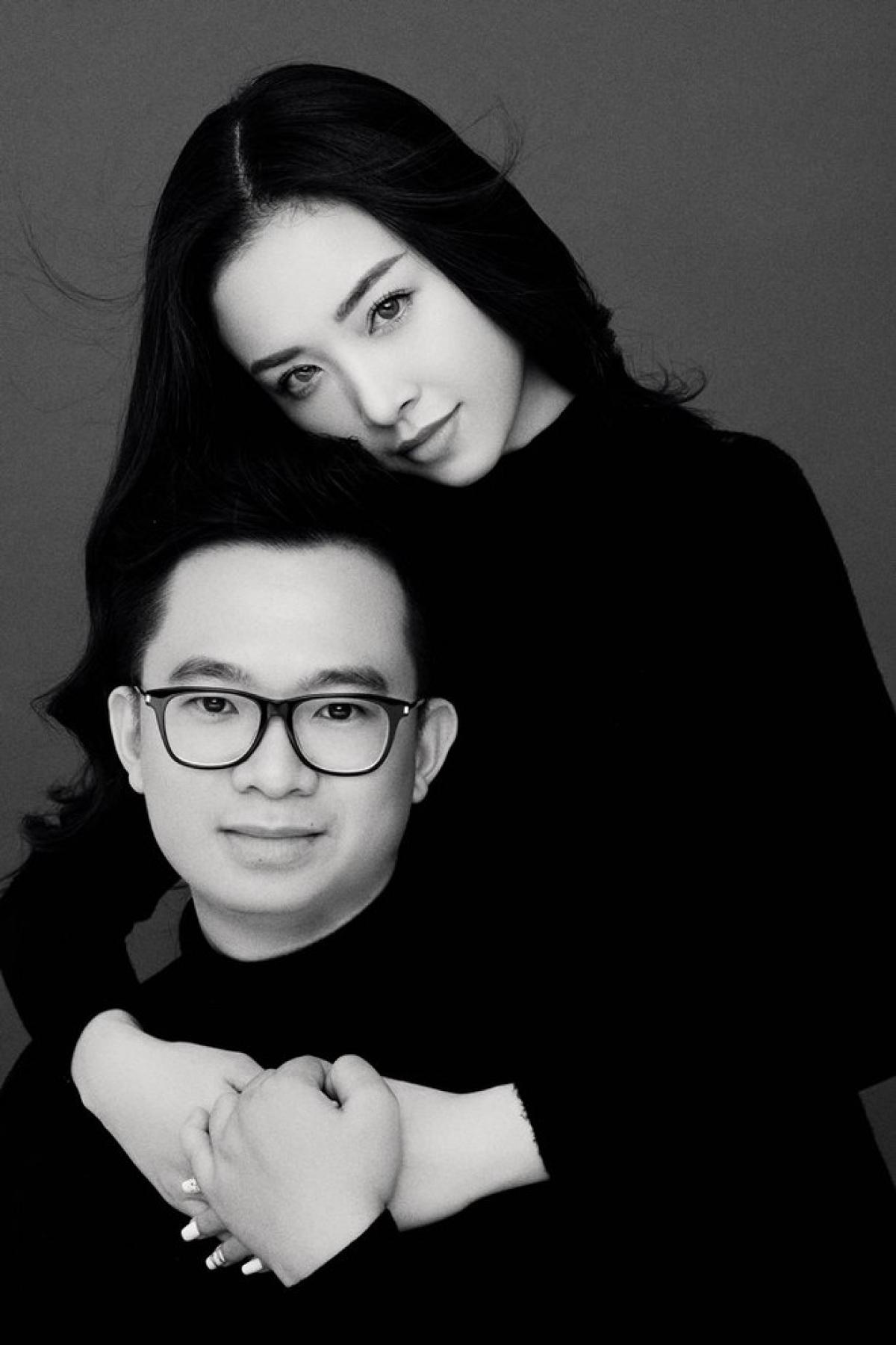 Thúy An và chồng.