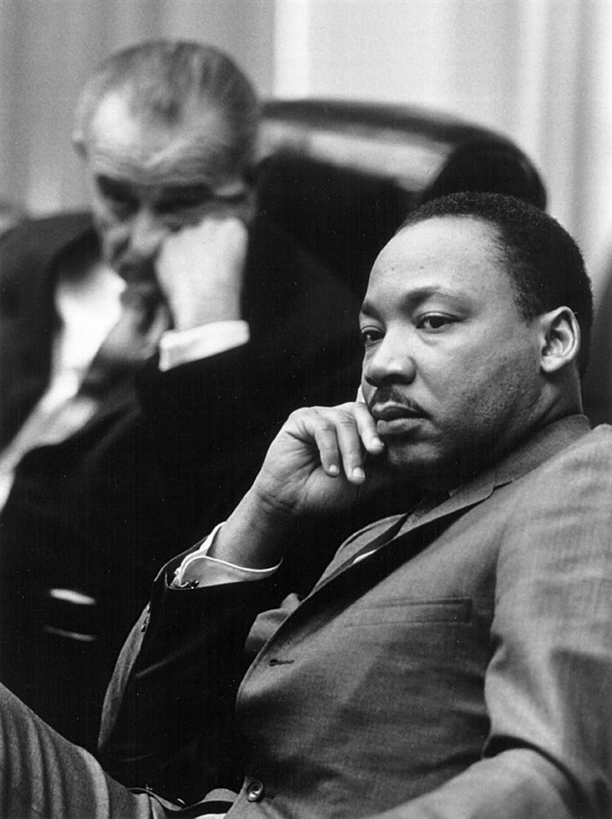 Mục sư King cùng Tổng thống Lyndon B. Johnson tại Nhà Trắng vào ngày 18/3/1966. Ảnh:Getty Images