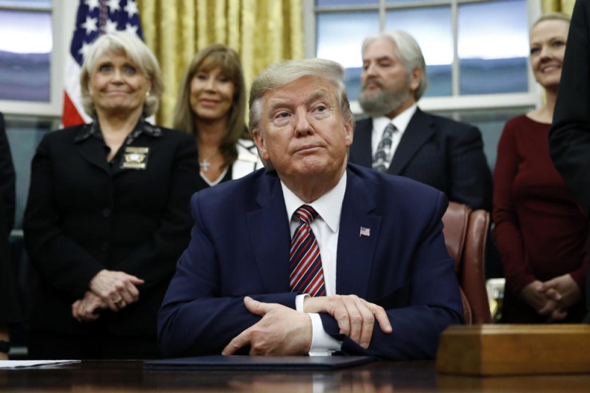 Tổng thống Trump. Ảnh: AP.