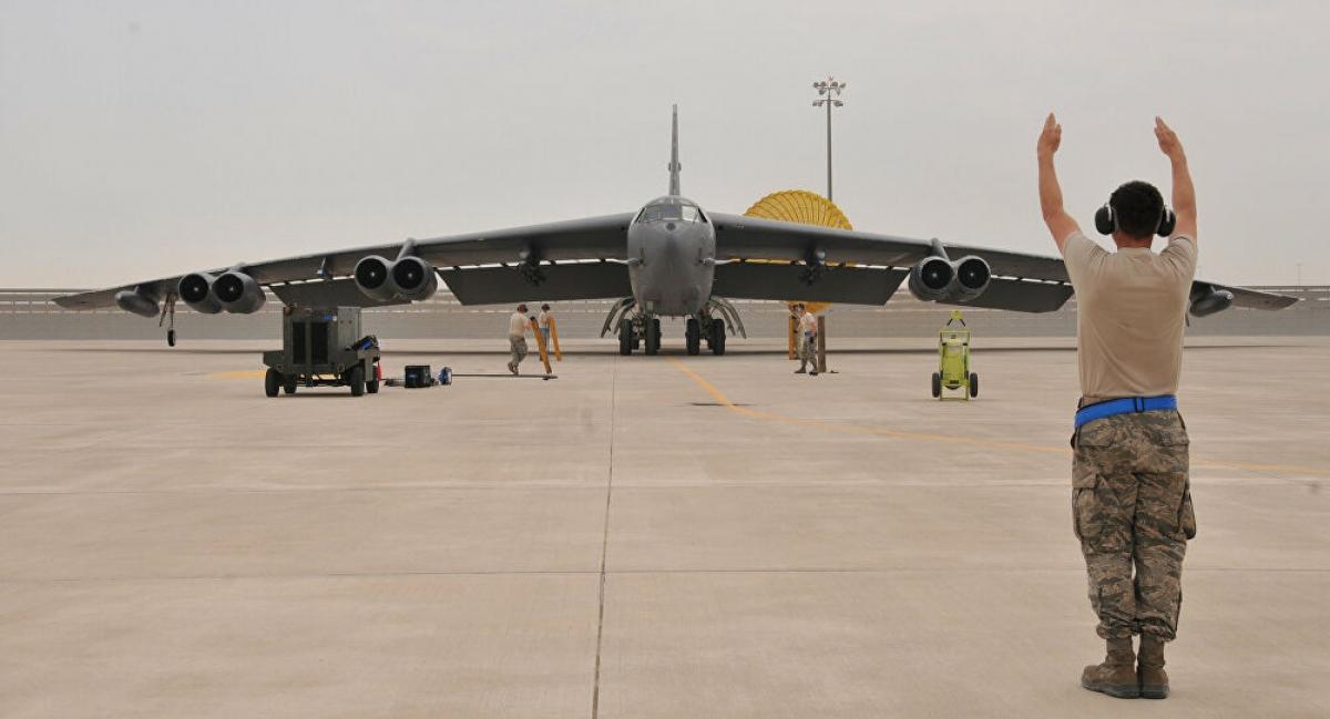 Mỹ đưa oanh tạc cơ B-52 trở lại đảo Guam thực hiện nhiệm vụ răn đe. Ảnh: Reuters