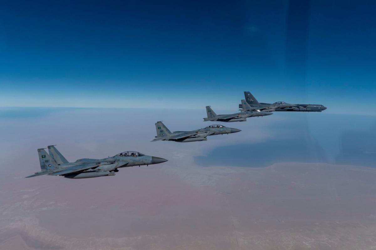 Mỹ đã 6 lần điều B-52 tới Trung Đông kể từ tháng 11/2020. Ảnh: USCENTCOM