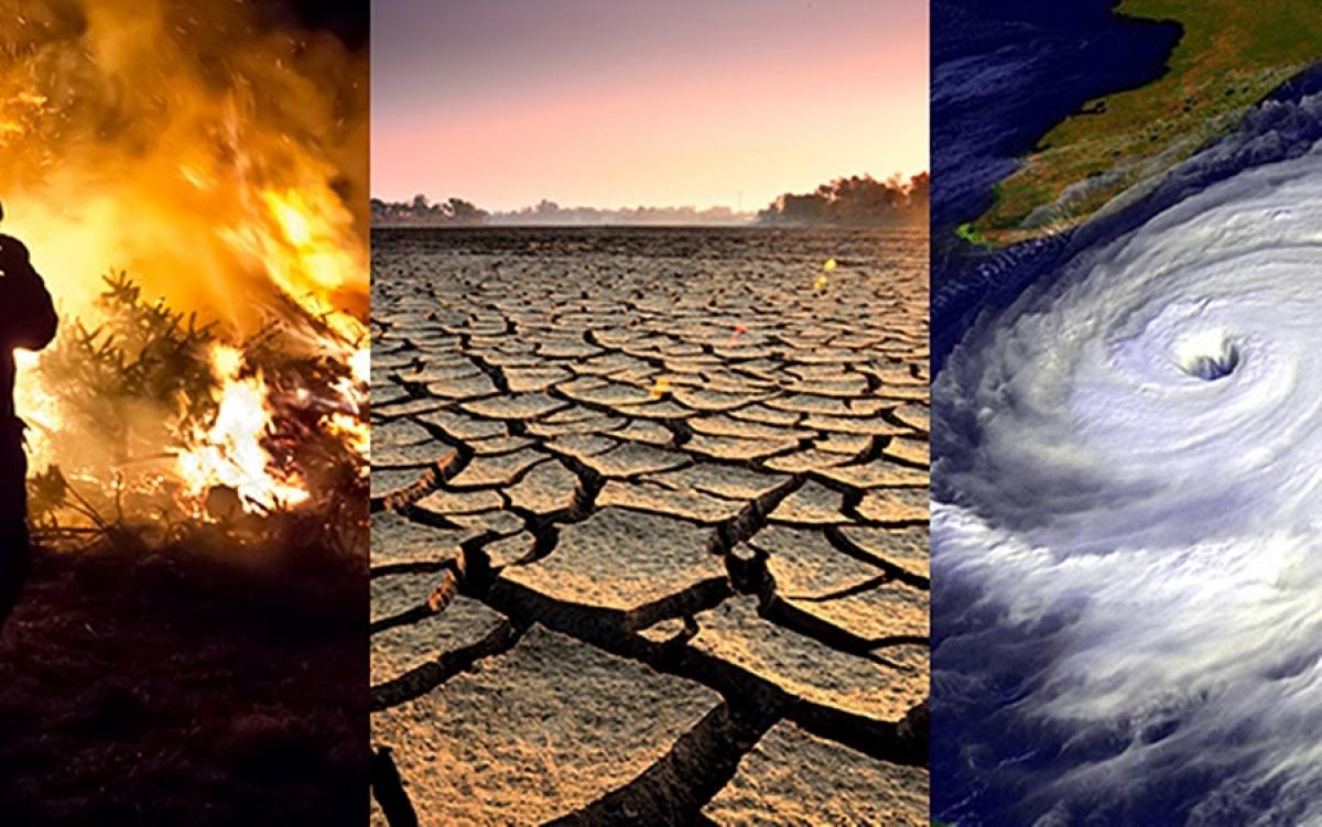Hình ảnh minh họa về biến đối khí hậu và thời tiết cực đoan. Nguồn: Nasa.