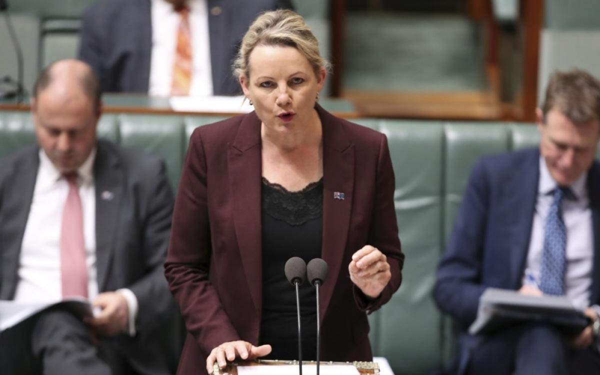 Bà Sussan Ley, Bộ trưởng Môi trường Australia. Ảnh: Alex Ellinghausen.