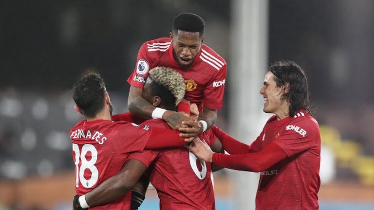 Pogba và đồng đội ăn mừng bàn thắng ấn định tỉ số 2-1 (Ảnh: Reuters).