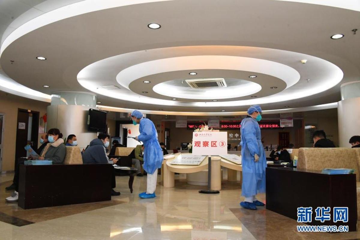 Tiêm phòng vaccine Covid-19 tại Bắc Kinh hôm 10/1/2021. Ảnh: Tân Hoa Xã