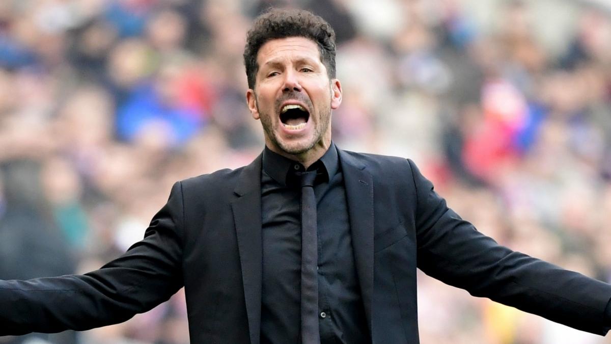 HLV Simeone đang đàm phán gia hạn với Atletico Madrid đến năm 2024. (Ảnh: Getty).