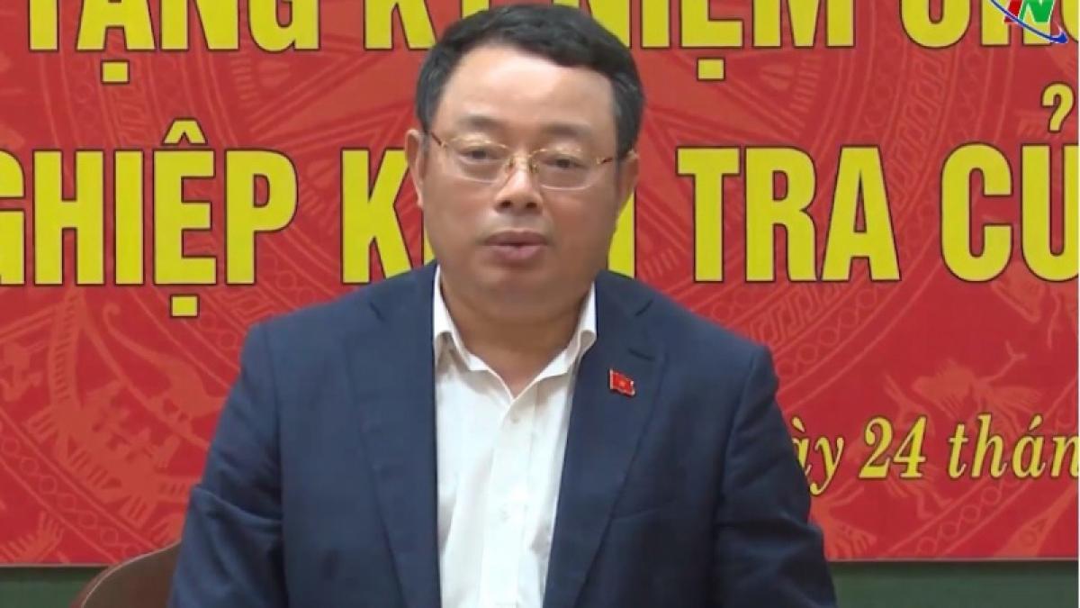 Ông Hoàng Văn Trà, Phó Chủ nhiệm Ủy ban Kiểm tra Trung ương (Ảnh: thainguyentv)