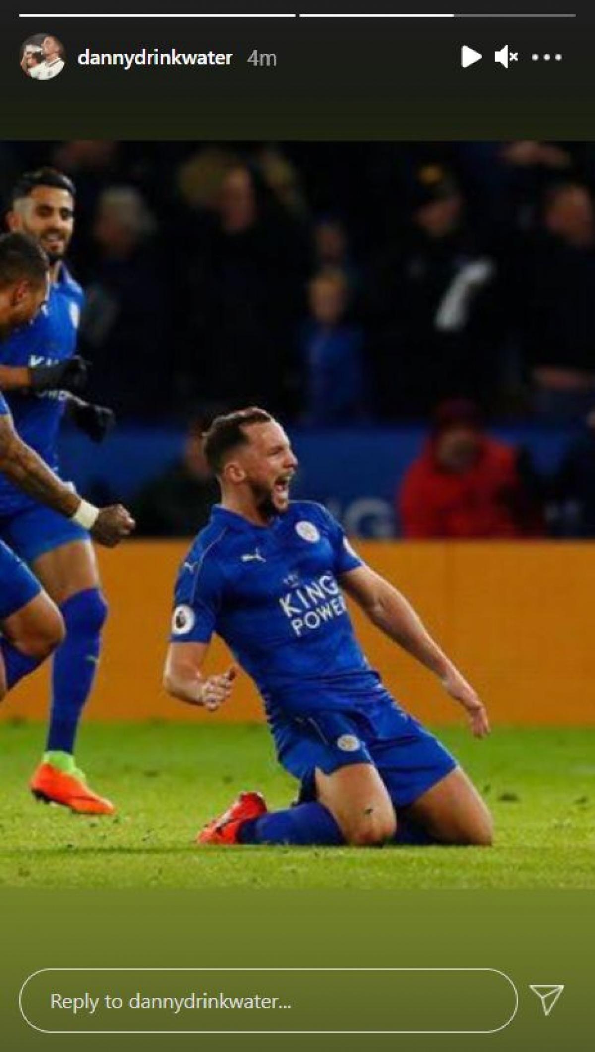 Hình ảnh Drinwater đăng lên mạng xã hội ngay sau khi Chelsea đưa ra thông tin chính thức về việc sa thải HLV Lampard.