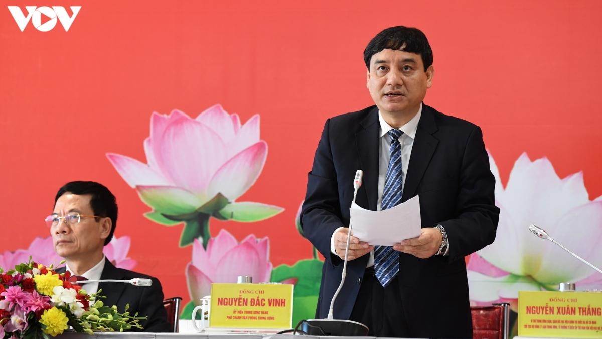 Ông Nguyễn Đắc Vinh - Ủy viên Trung ương Đảng, Phó Chánh Văn phòng Trung ương