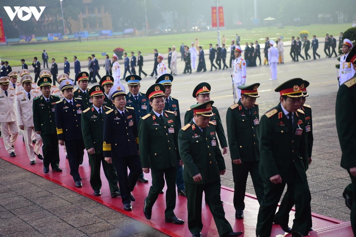Đoàn đại biểu quân đội tham dự Đại hội Đảng lần thứ XIII