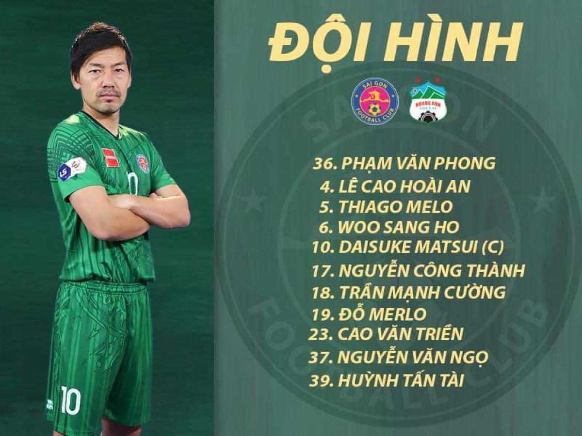 Đội hình ra sân của Sài Gòn FC.
