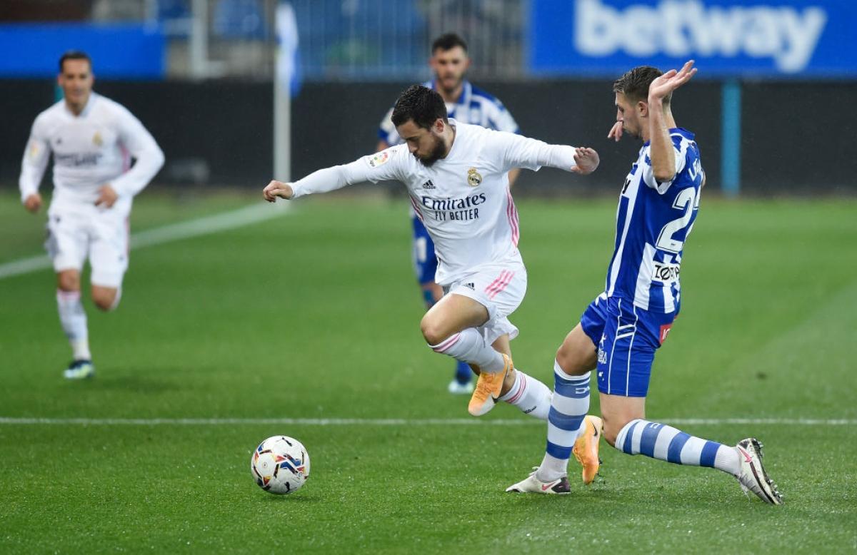 Hazard ghi bàn trở lại giúp Real Madrid giải