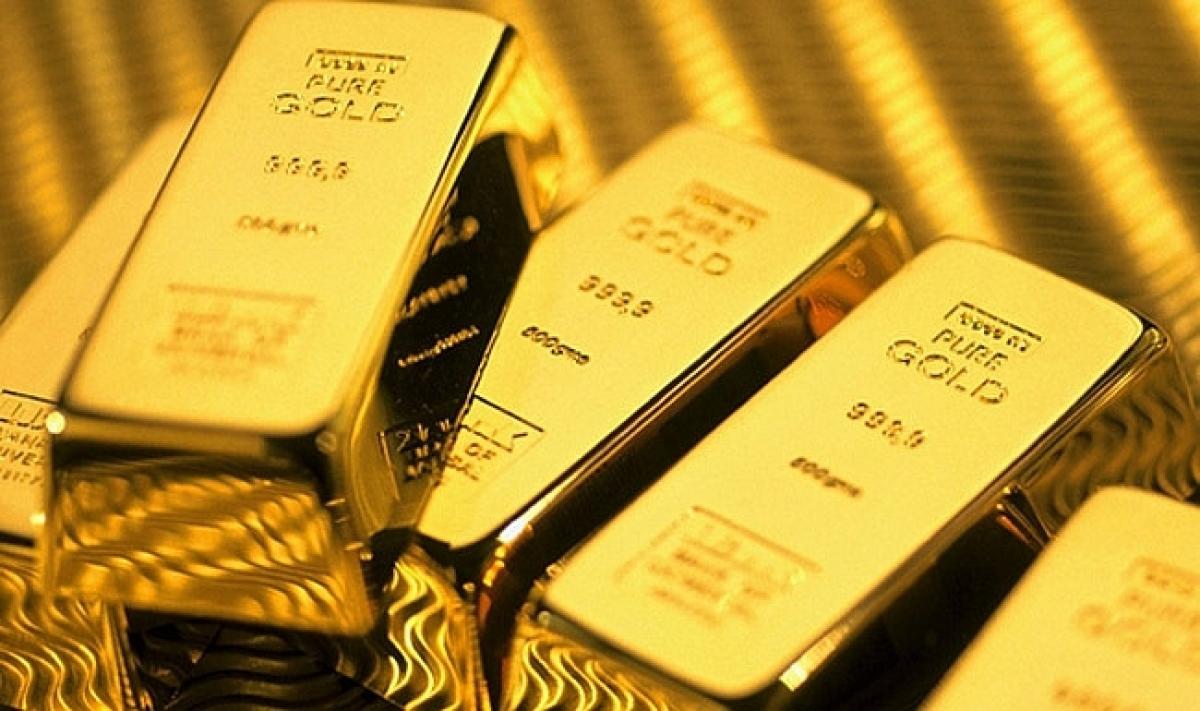 Giá bán vàng SJC cao hơn vàng thế giới 5,12 triệu đồng/lượng. (Ảnh minh họa: KT)