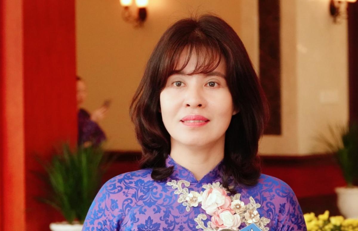 Đại biểu Nguyễn Thị Xuân Hương, Trưởng Ban Tuyên giáo Tỉnh ủy tỉnh Tây Ninh.