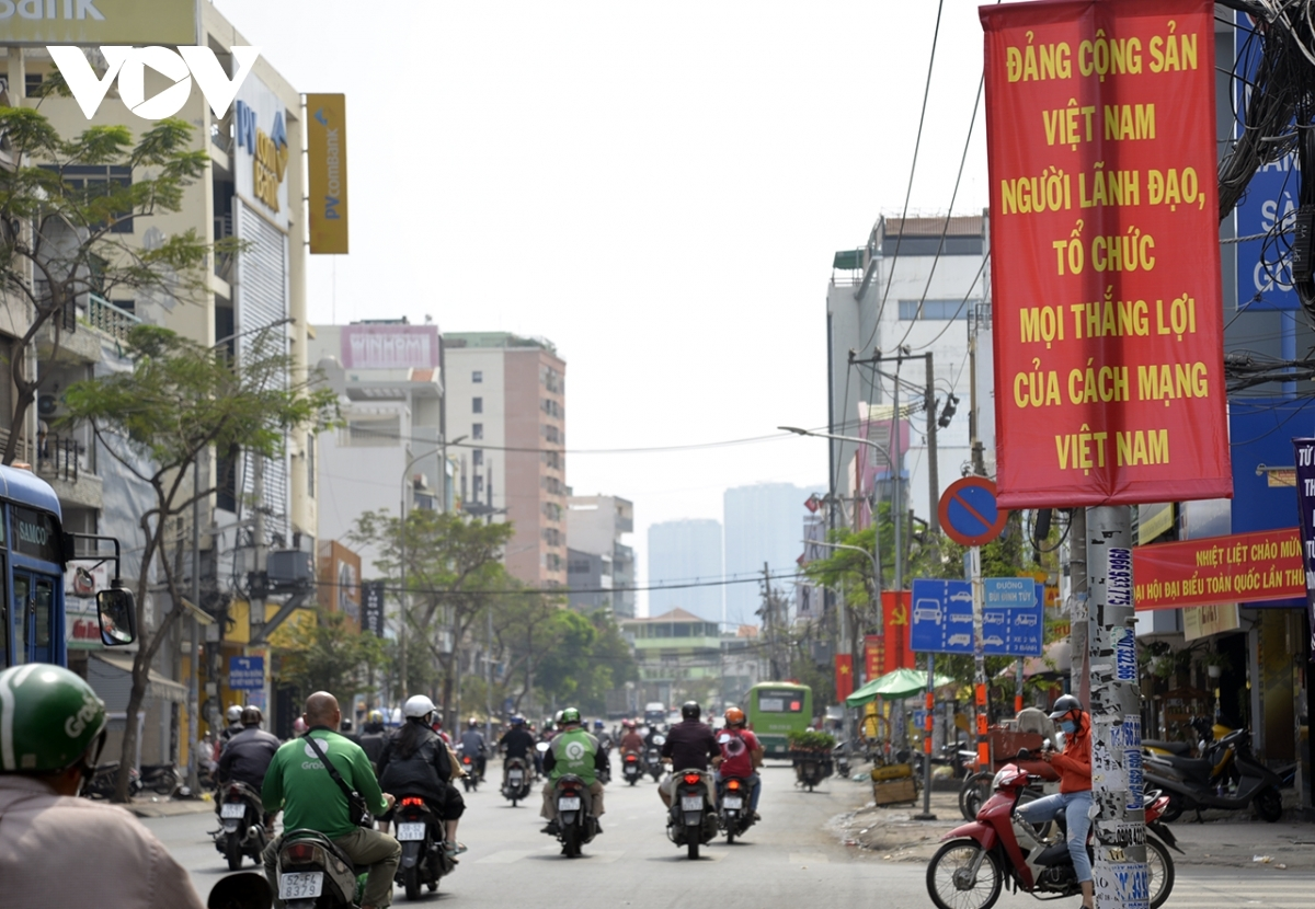 A view of Dinh Bo Linh street