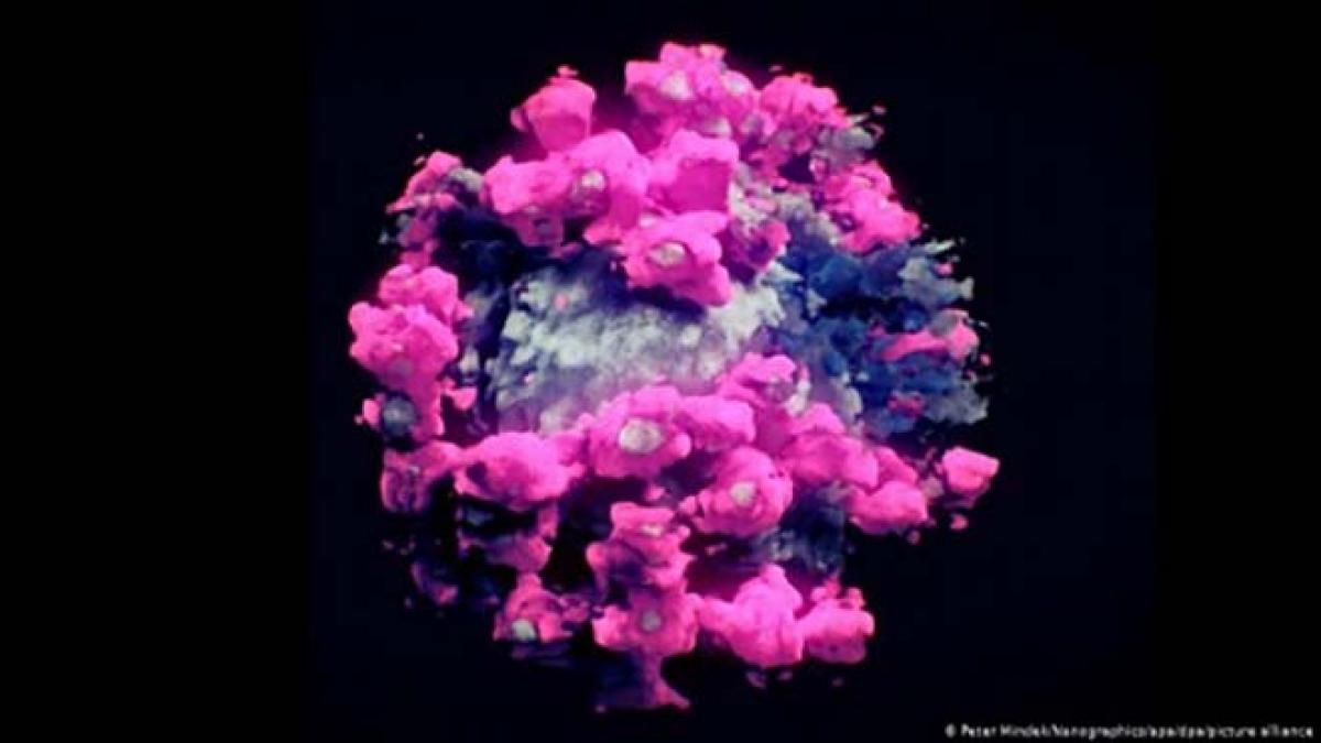 Hình ảnh 3D của SARS-CoV-2 - Ảnh: DW.