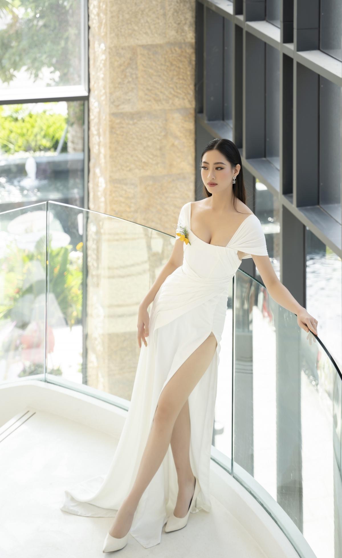 Mới đây, Hoa hậu Lương Thuỳ Linh đến tham gia một sự kiện tại TP. Quy Nhơn với vai trò khách mời.
