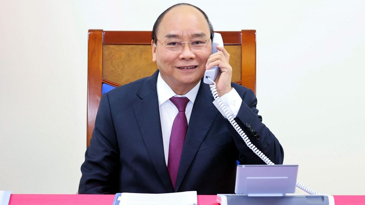 PM Nguyen Xuan Phuc holds phone talks with his Australian counterpart Scott Morrison