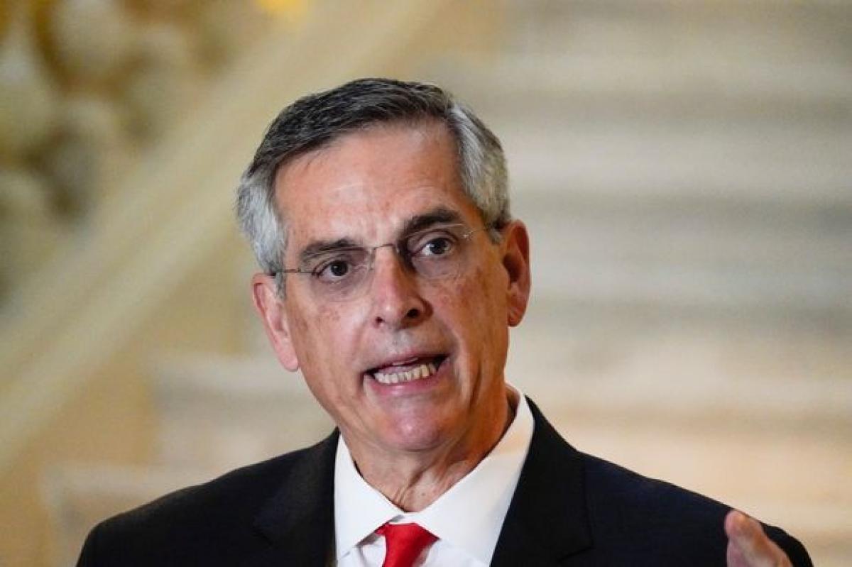 Tổng thư ký bang Georgia, ông Raffensperger. Ảnh: WSJ.