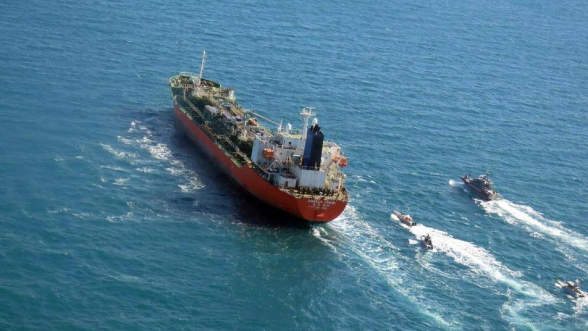 Iran đã bắt tàu của Hàn Quốc Hankuk Chemi và 20 thủy thủ đoàn tại khu vực vùng Vịnh với cáo buộc vi phạm các quy tắc về môi trường. Ảnh: BBC