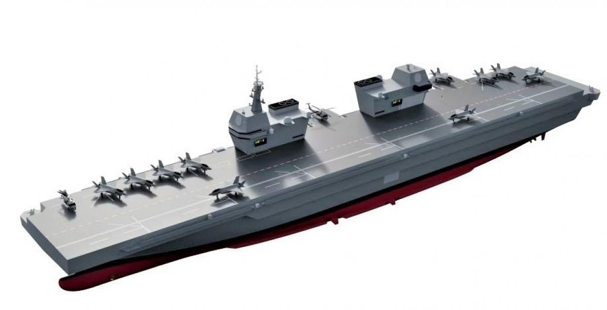 Mô hình tàu sân bay hạng nhẹ LPX-II của Hàn Quốc; Nguồn: janes.com