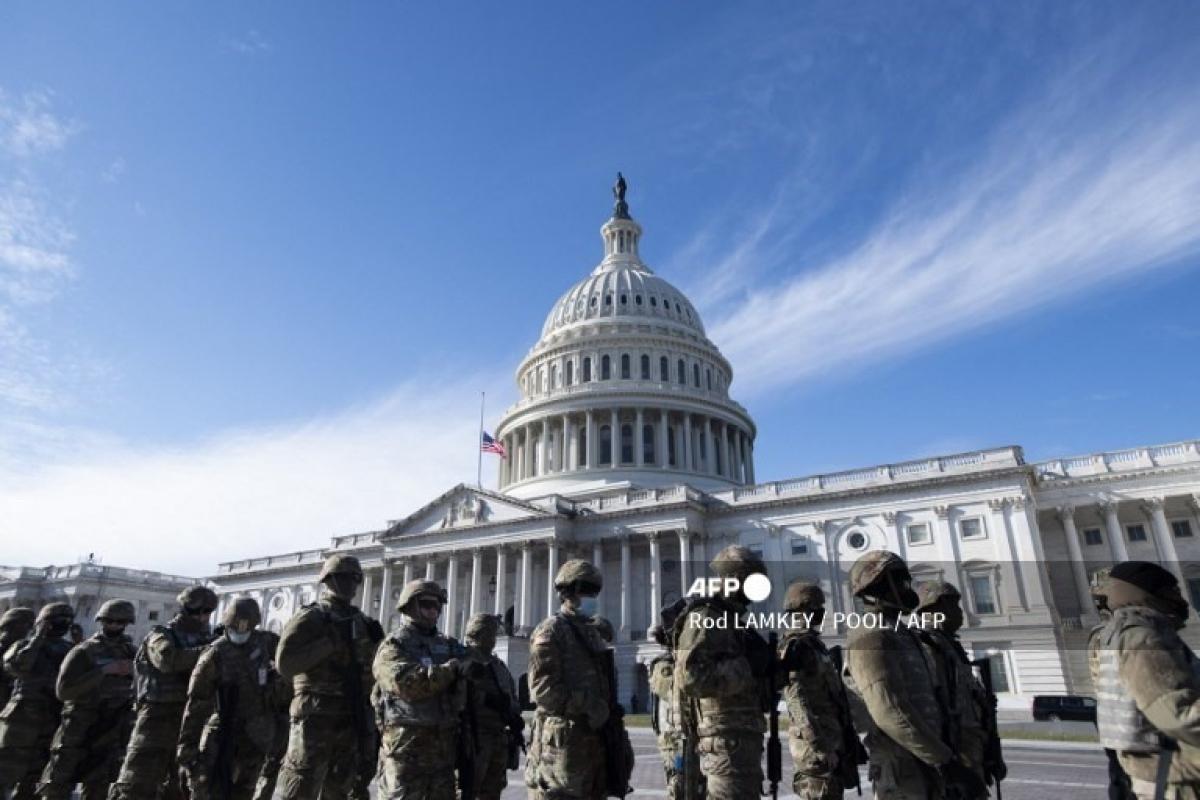 Mỹ điều động lực lượng an ninh bảo vệ lễ nhậm chức của ông Biden. Ảnh: AFP.