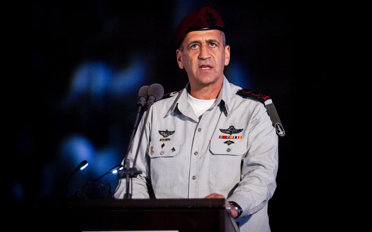 Tổng tham mưu trưởng Lực lượng phòng vệ Israel Aviv Kohavi. Ảnh: Times of Israel