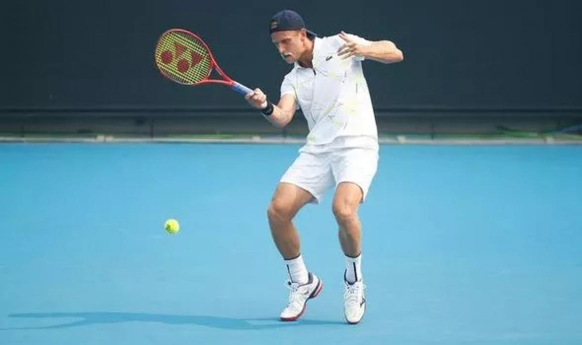 Tay vợt Dennis Kudla vẫn thi đấu vòng loại Australian Open ở thời điểm được xác định đã mắc Covid-19. (Ảnh: Getty).