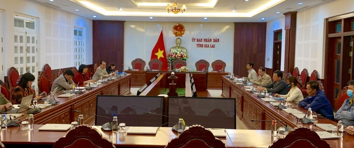 Buổi làm việc giữa UBND tỉnh Gia Lai và đoàn công tác