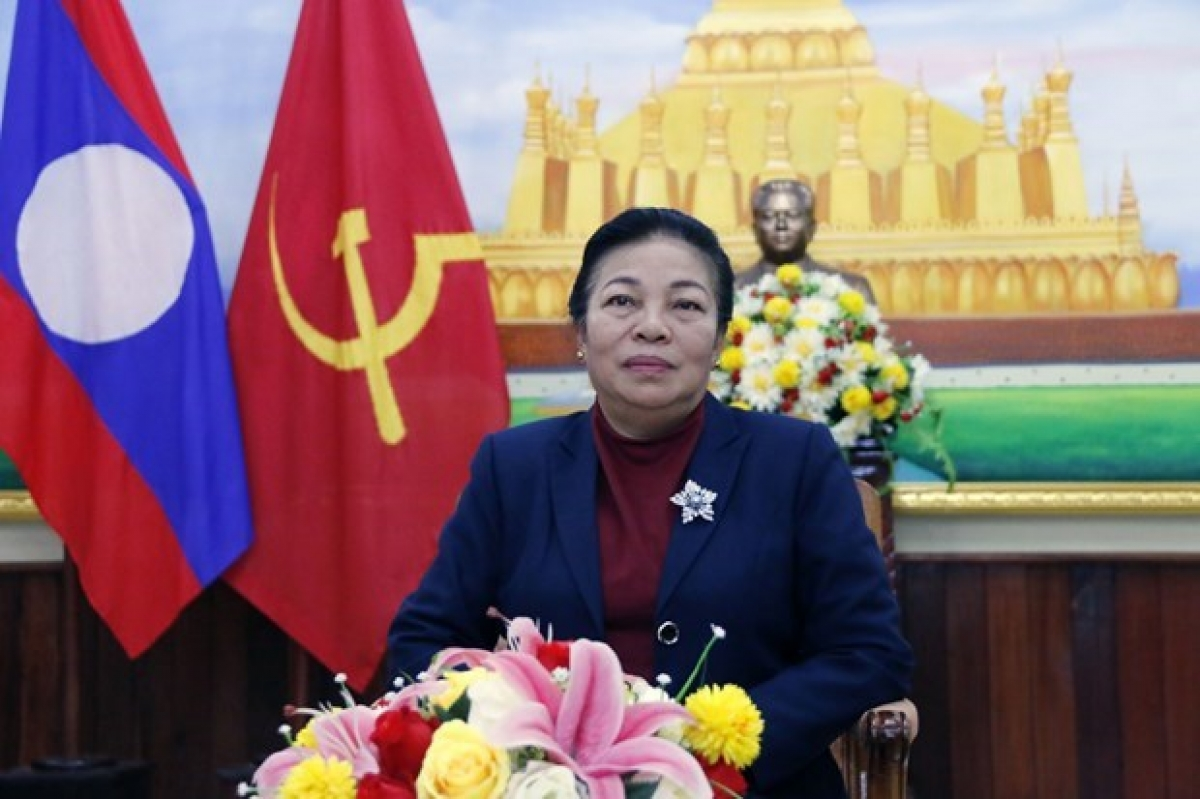 Sounthone Sayachak, head of the Lao Party Central Committee's Commission for External Relations (Photo: VNA)