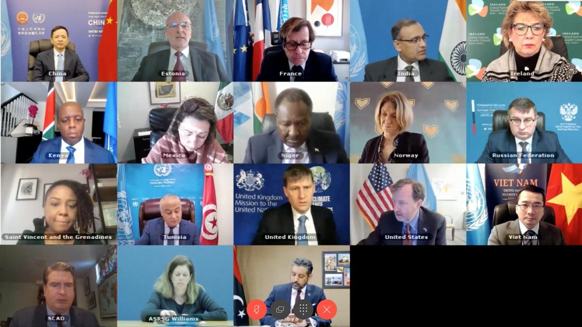 HĐBA LHQ họp trực tuyến về tình hình Libya.