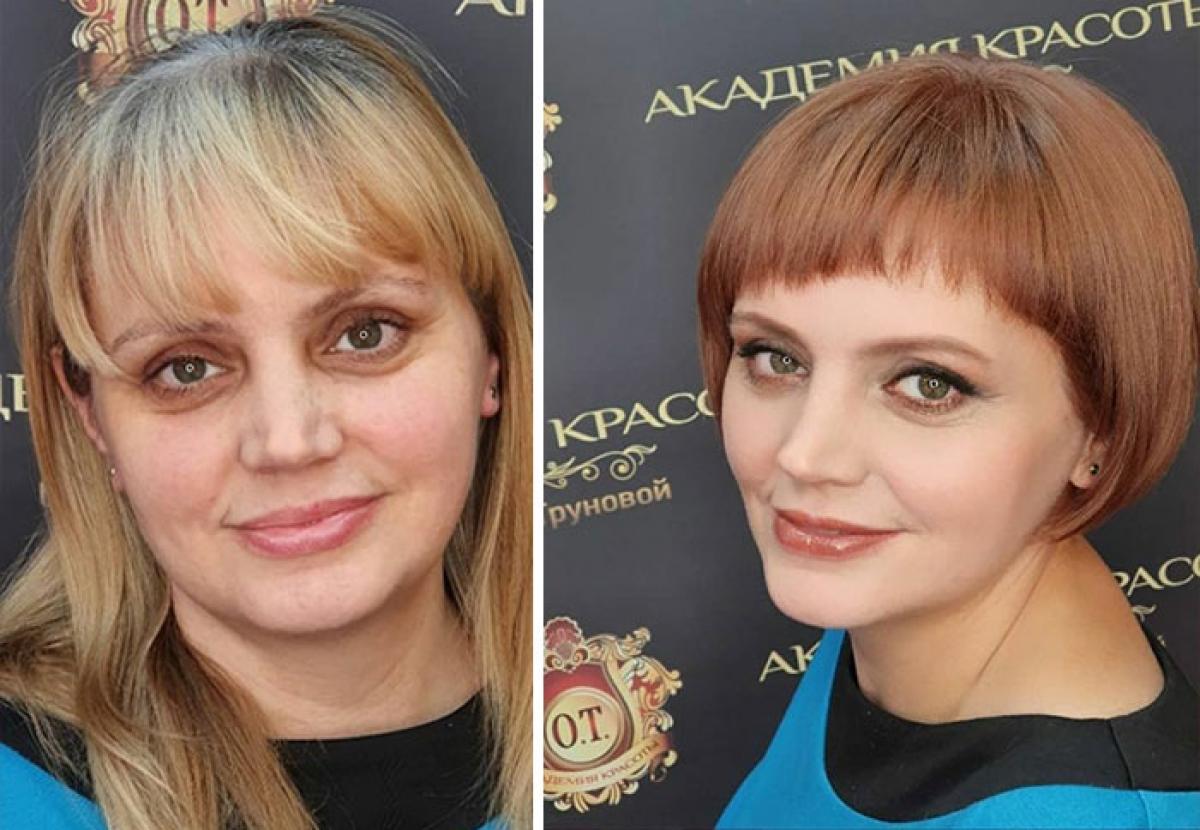 Thay vì mái tóc nhàm chán, cô gái này mạnh dạn đổi sang kiểu tóc ngắn cá tính. Mái tóc mới giúp tôn đôi mắt to và sống mũi thẳng của cô gái.