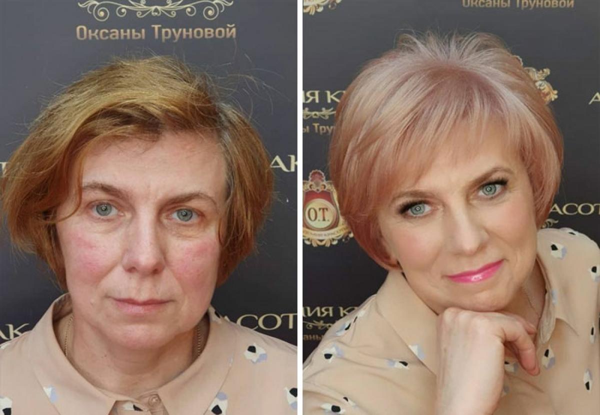 Đổi từ mái tóc vàng, xơ rối sang tóc ánh hồng bóng mượt, đời chỉ đẹp khi ta thay đổi.