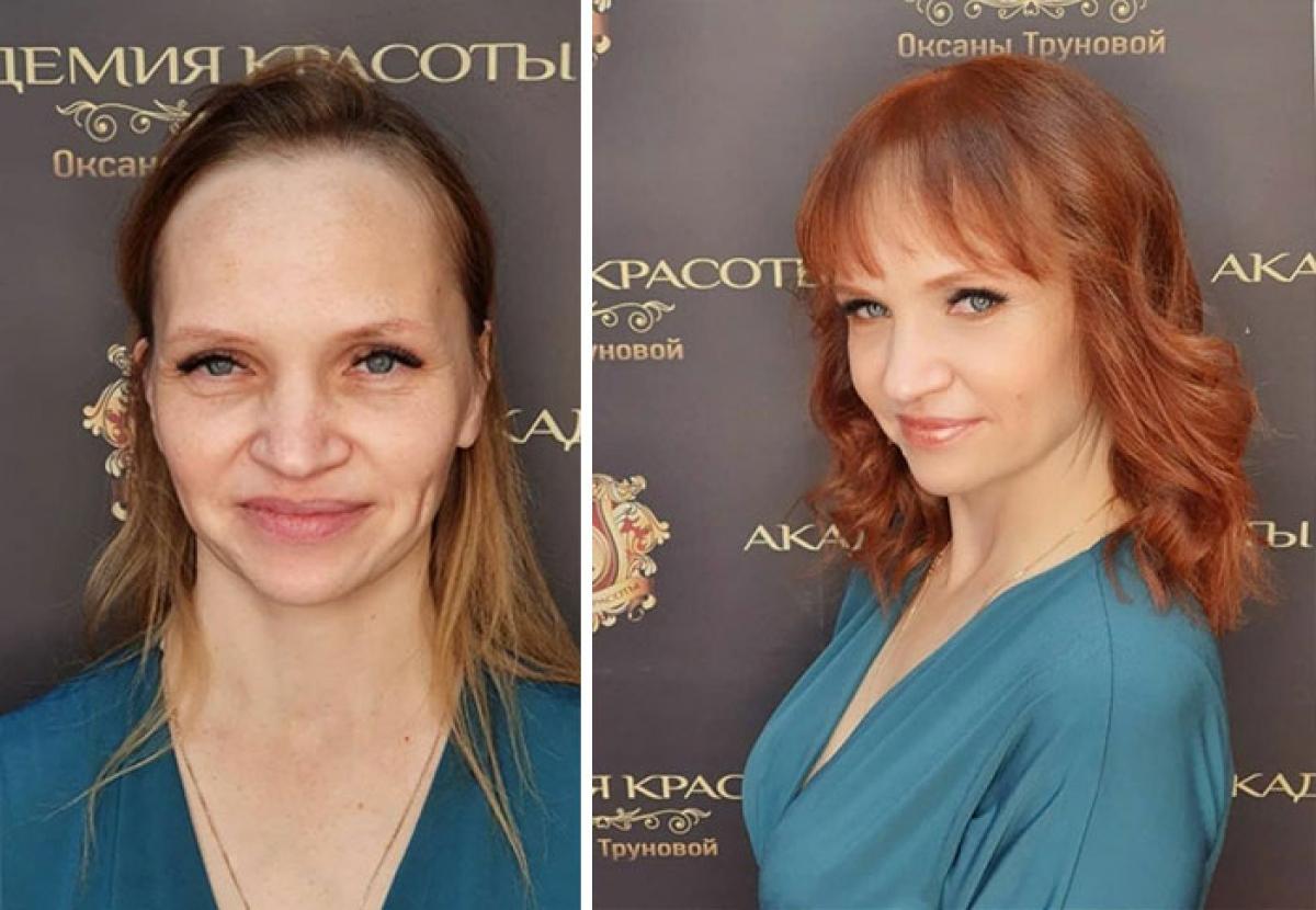 Khuyết điểm vầng trán rộng đã được kiểu tóc mới xử lý hoàn hảo.