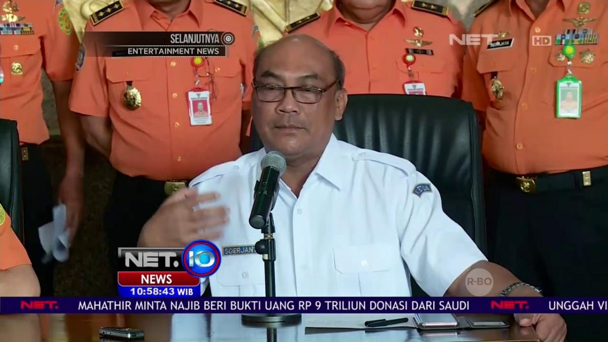 Ông Soerjanto Tjahjono, Chủ tịch Ủy ban An toàn Giao thông Vận tải Quốc gia Indonesia tại buổi họp báo