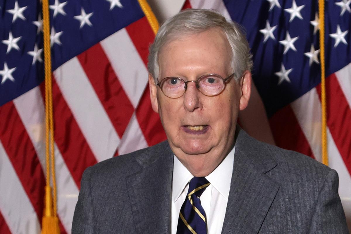 Lãnh đạo đảng Cộng hòa tại Thượng viện Mitch McConnell. Ảnh: Getty