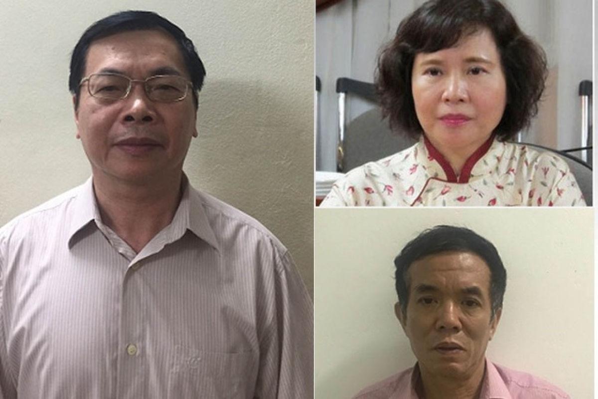 Ông Vũ Huy Hoàng, bà Hồ Thị Kim Thoa và ông Phan Chí Dũng