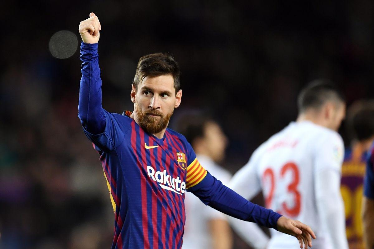 Messi đạt cột mốc 400 bàn thắng ở La Liga ngày này 2 năm trước. (Ảnh: Getty).