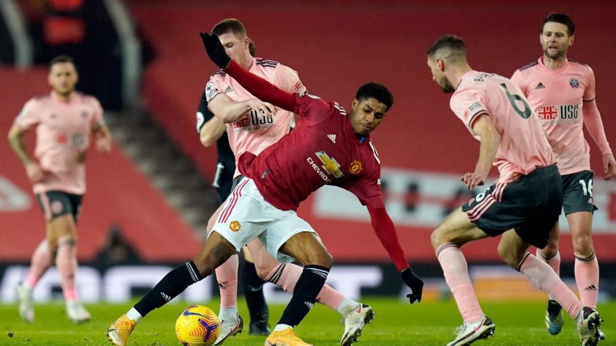 Trong ngày hàng công chơi không tốt, MU đã không thể tạo được sức ép lên Sheffield United (Ảnh: Premier League).