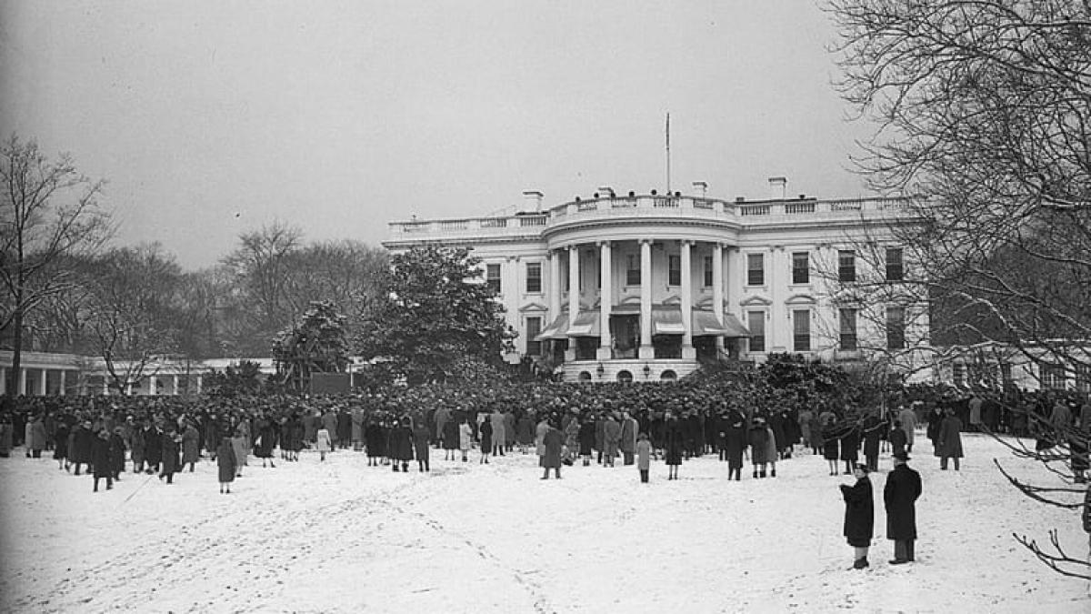 Lễ nhậm chức năm 1945 của Tổng thống Franklin Roosevelt diễn ra ở Nhà Trắng. Ảnh: Getty