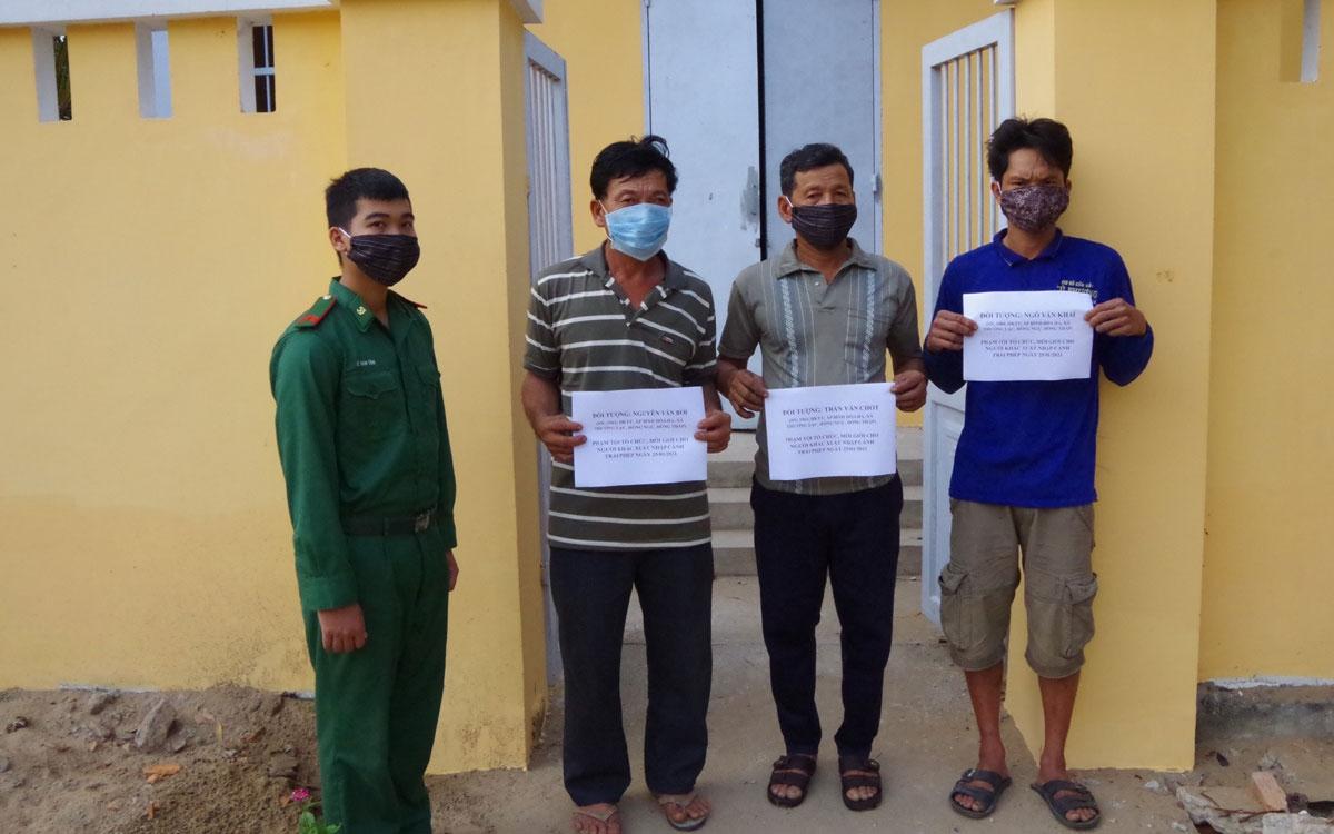 Đồng Tháp phát hiện 3 đối tượng đưa người nhập cảnh trái phép vào Việt Nam (ảnh Biên phòng).