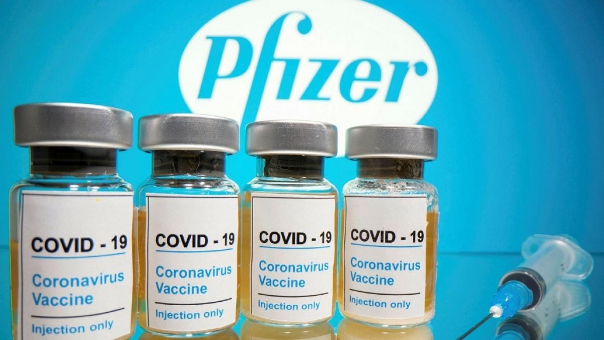Vaccine Covid-19 củaPfizeer. (Ảnh: EPA)