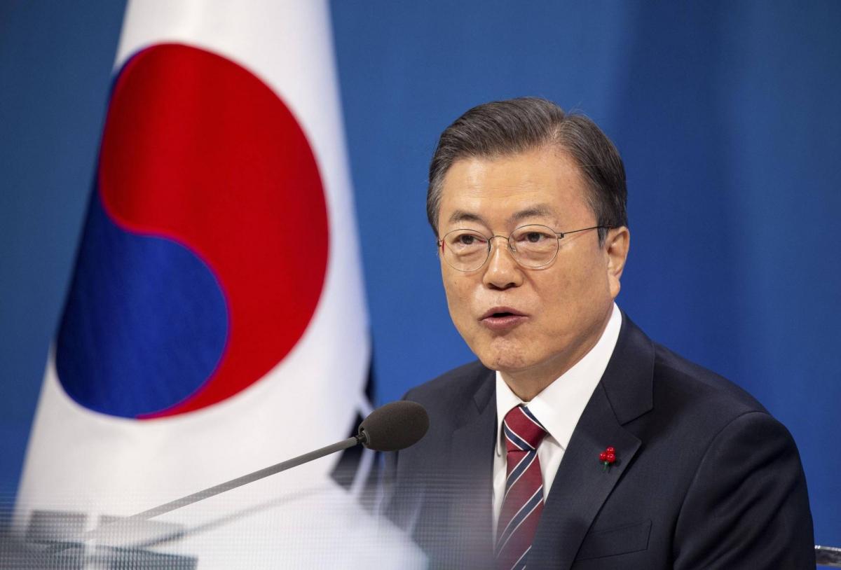 Tổng thống Hàn Quốc Moon Jae-in. Ảnh: Japan Times