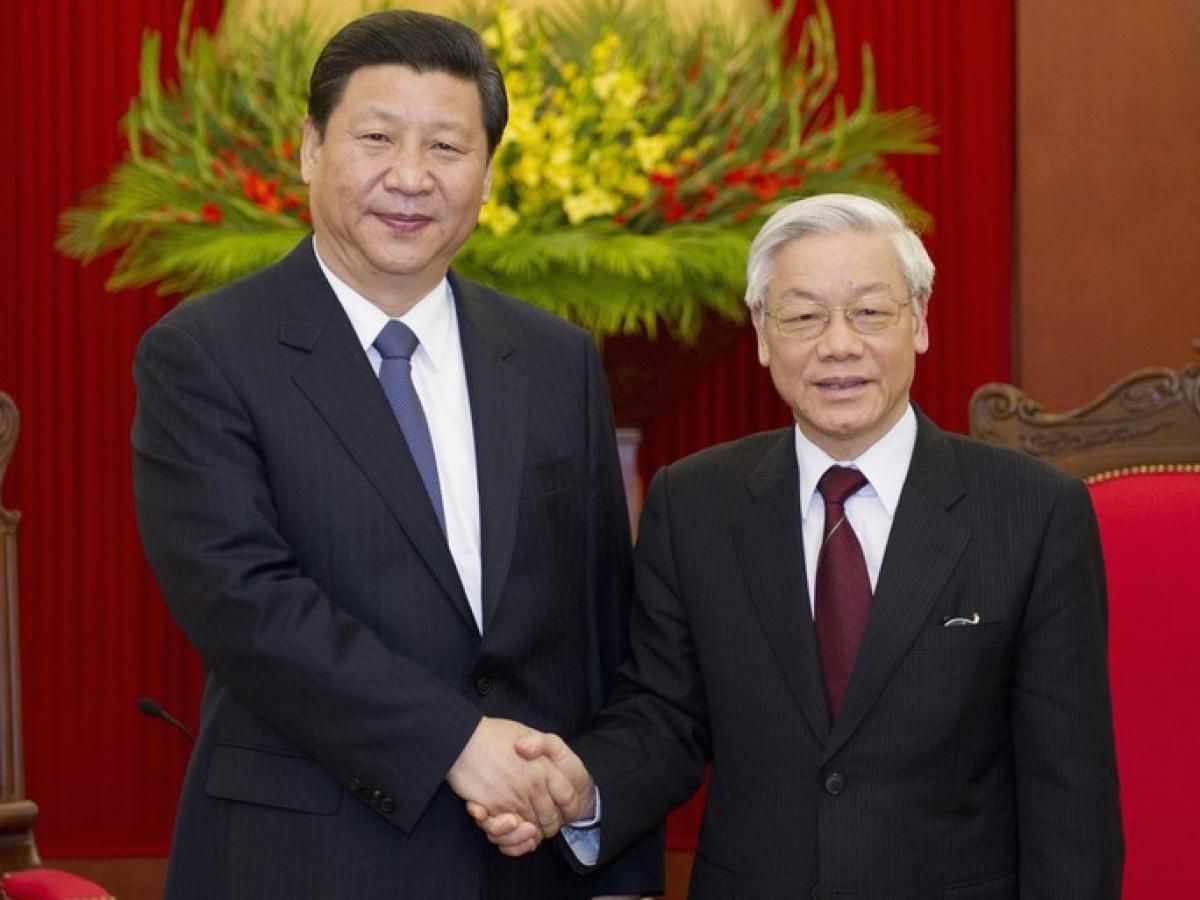 Tổng Bí thư, Chủ tịch nước Nguyễn Phú Trọng và Tổng Bí thư, Chủ tịch Trung Quốc Tập Cận Bình.