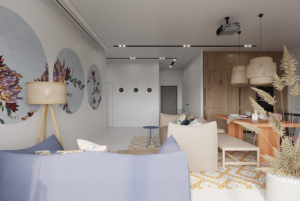 Nội thất trong căn nhà là sự tổng hòa duyên dáng khéo léo giữa phong cách Scandinavian và Bohemian, đạt đến đỉnh cao của sự duy mỹ.