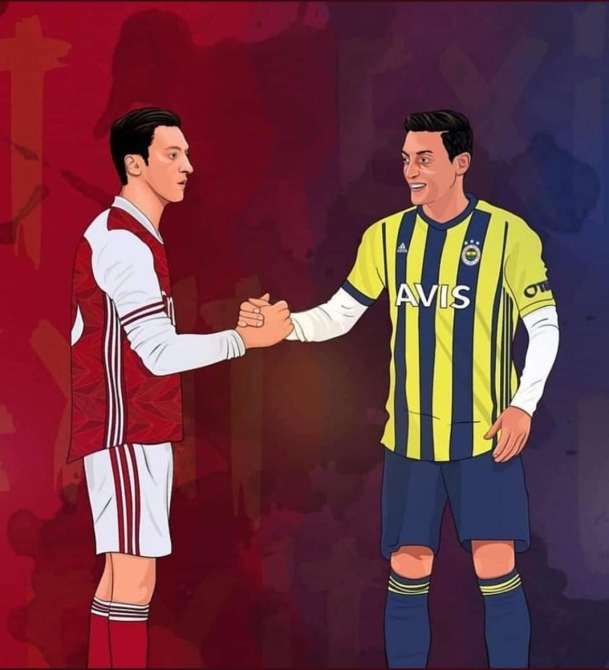 Mesut Ozil chia tay Arsenal để chuyển tới Fenerbahce (Ảnh: FBNV)
