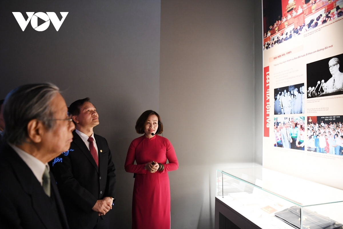 Visitors have the chance to learn more about the establishment of the Communist Party of Vietnam, along with the various policies adopted through the 12 Party Congresses.